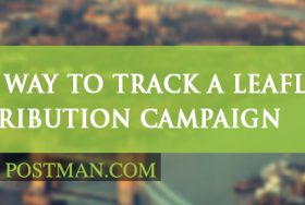 What is the best way to track a leaflet distribution campaign?