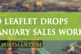 Do leaflet drops for January sales work?